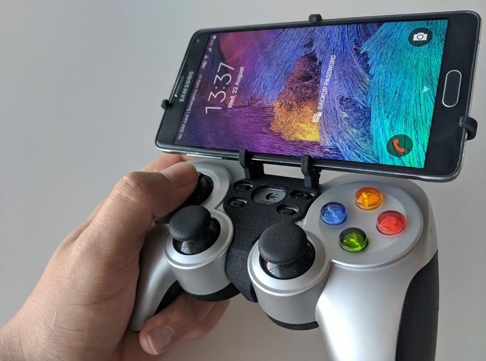 Logitech F710 & Asus Zenfone 6 ZS630KL - Front Rid 3d printed Front rider - full view