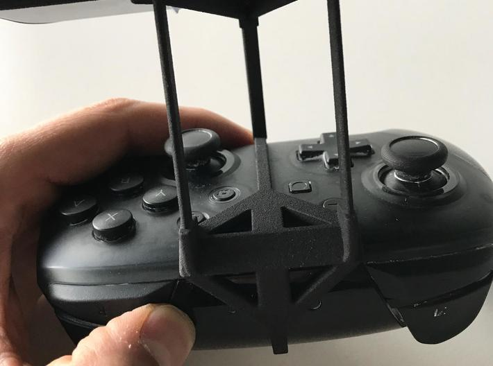 Nintendo Switch Pro controller & Oppo A9 - Over th 3d printed Nintendo Switch Pro controller - Over the top - Back View