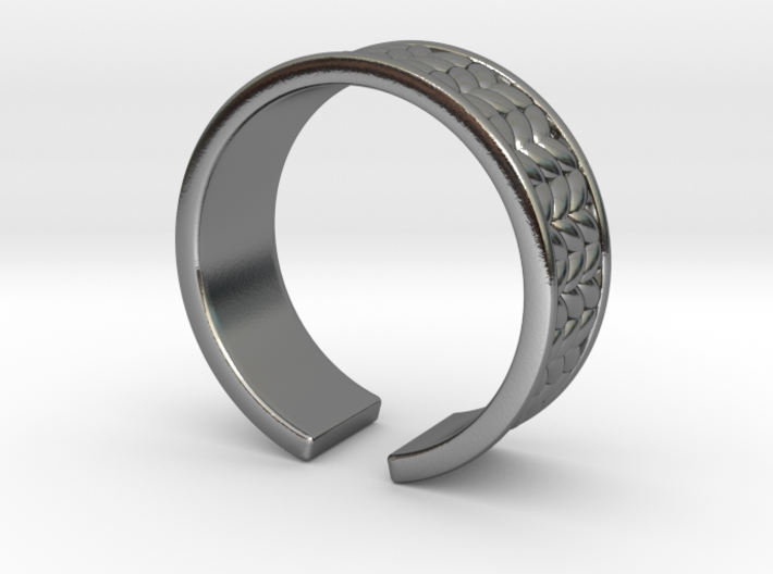 Knitted open ring 3d printed
