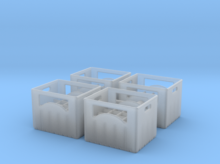 Bottle crate (4 pieces) 1/48 3d printed