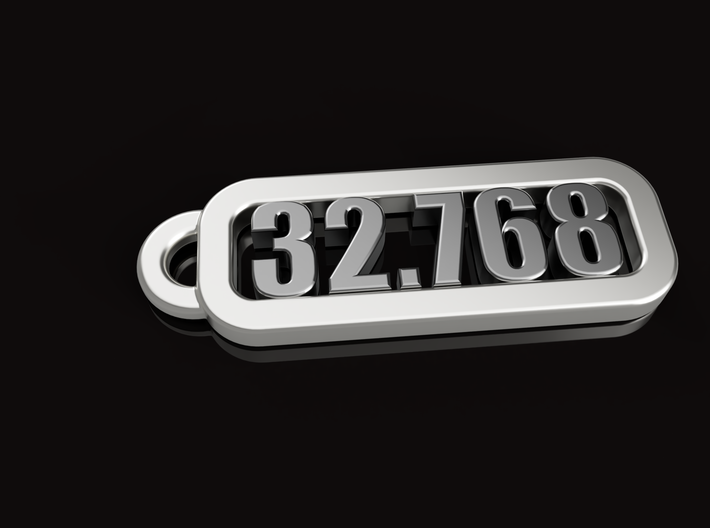Keyring of 32.768 kHz 3d printed