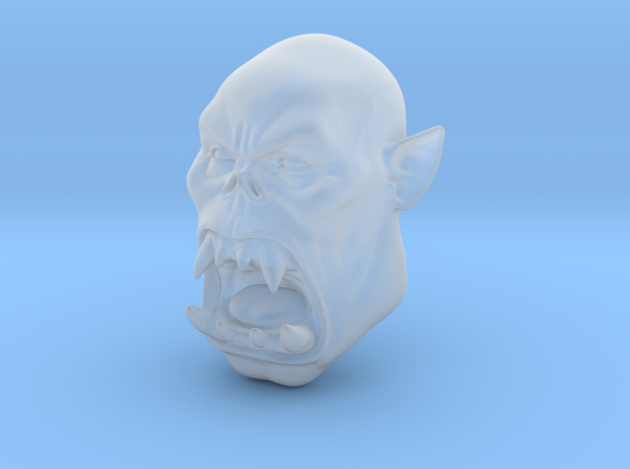 Ork_Head_test01 3d printed