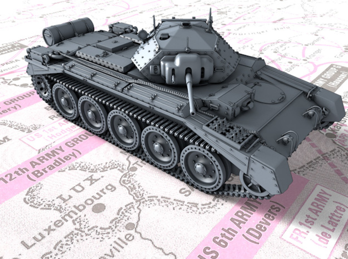 1/160 (N) Crusader Mk I Medium Tank 3d printed 1/160 (N) Crusader Mk I Medium Tank