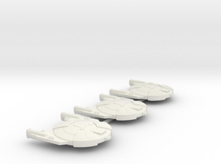 3788 Scale Andromedan Viper Frigates (3) SRZ 3d printed