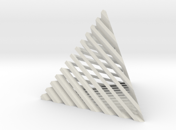 Striped tetrahedron no. 2 3d printed