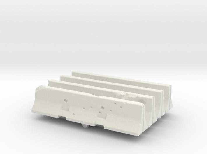 Jersey barrier (x4) 1/200 3d printed