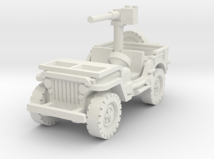 Jeep Willys 50 cal (window down) 1/76 3d printed