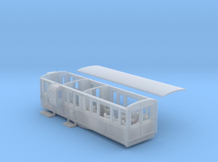Ffestiniog Rly 1st/brake coach NO.11 3d printed