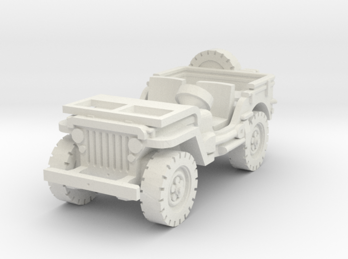 Jeep willys (window down) 1/87 3d printed