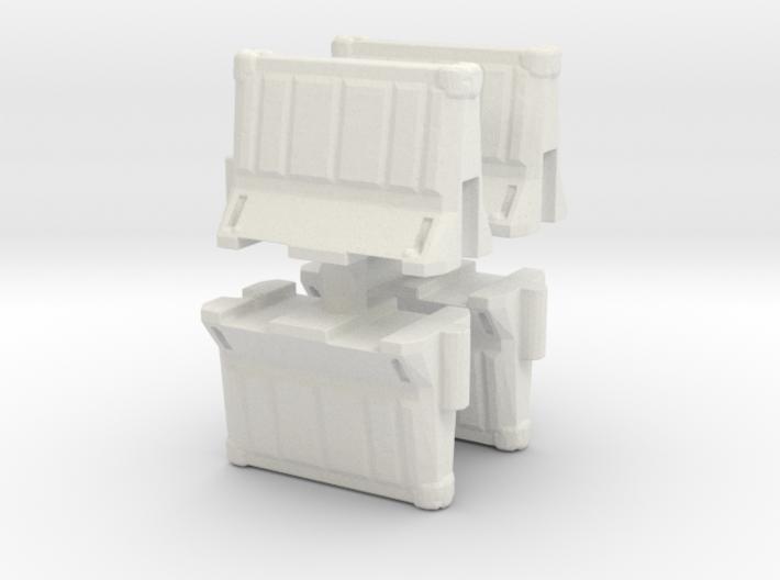 Interlocking traffic barrier (x4) 1/100 3d printed