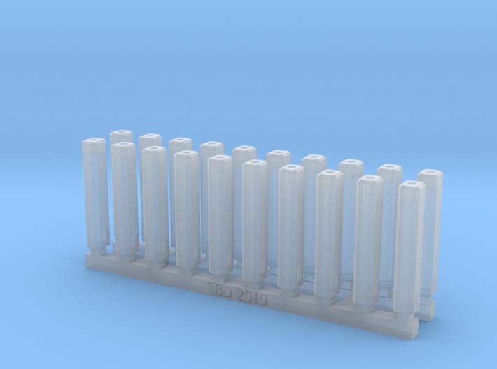Bolt Rifle Suppressors Angular v2 x20 3d printed
