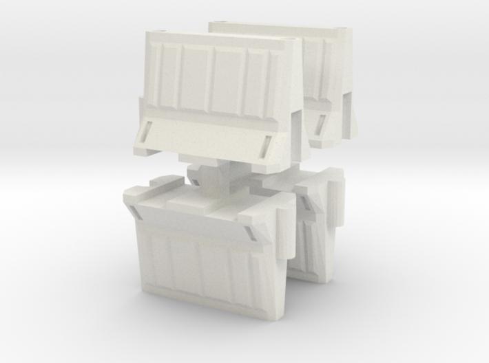 Interlocking traffic barrier (x4) 1/24 3d printed