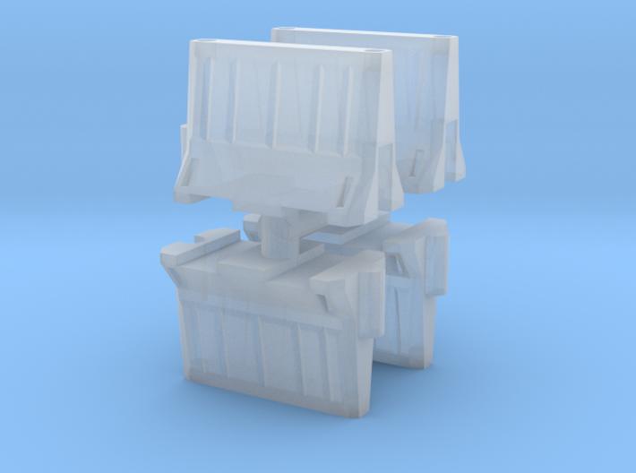 Interlocking traffic barrier (x4) 1/220 3d printed
