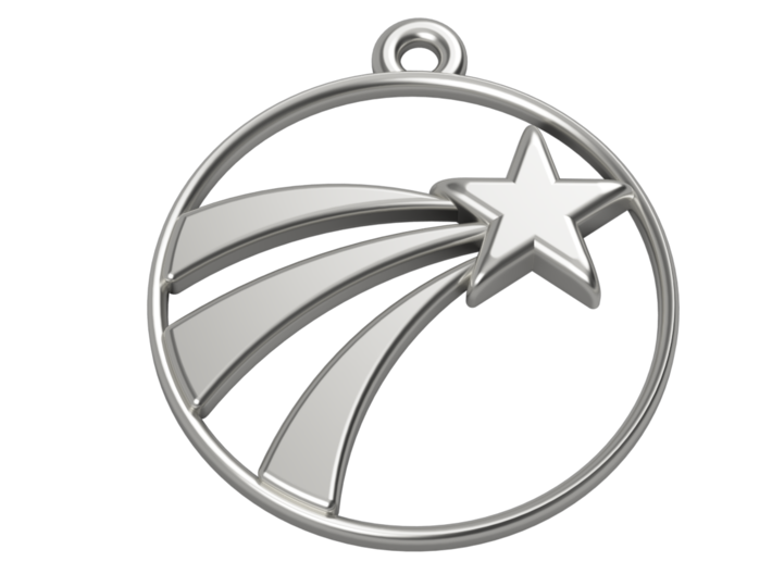 A Lucky Pendant of a Shooting Star ⭐️ 3d printed Illustrative 3D render