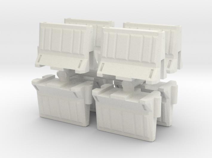 Interlocking traffic barrier (x8) 1/48 3d printed
