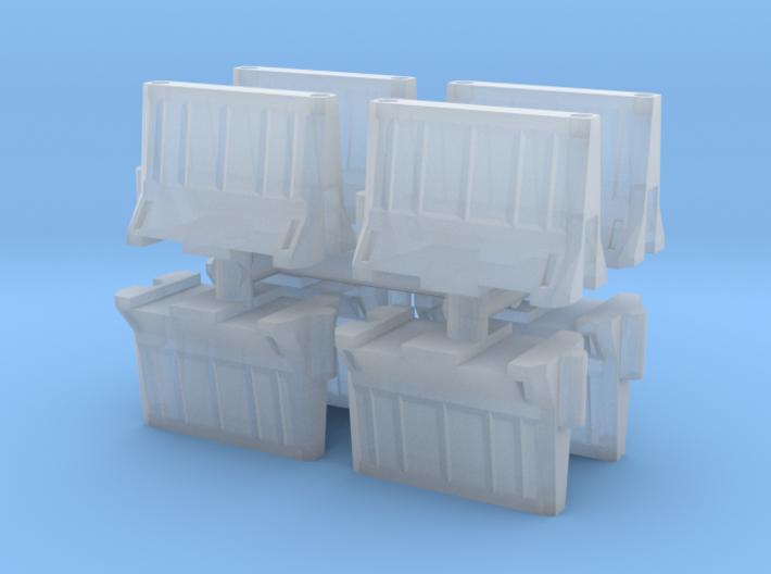Interlocking traffic barrier (x8) 1/120 3d printed