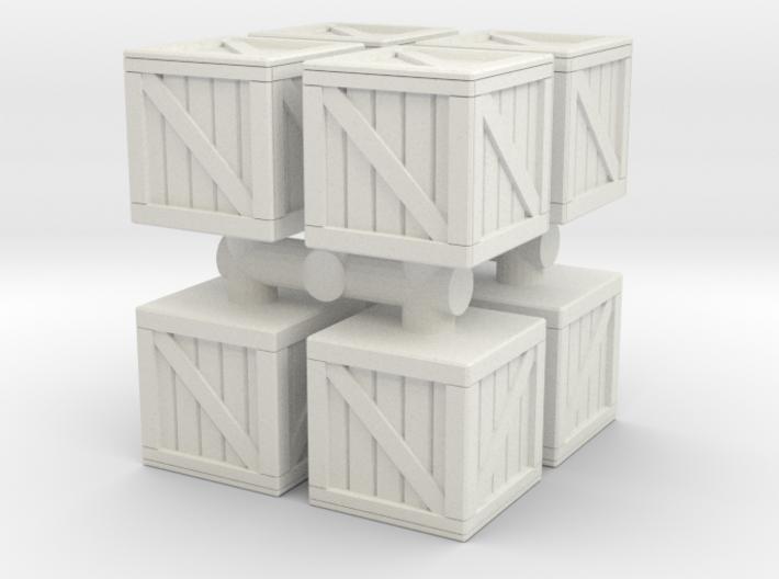 Wood crate prop (x8) 1/72 3d printed