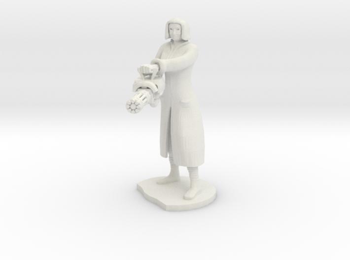 Female Mini gunner 3d printed