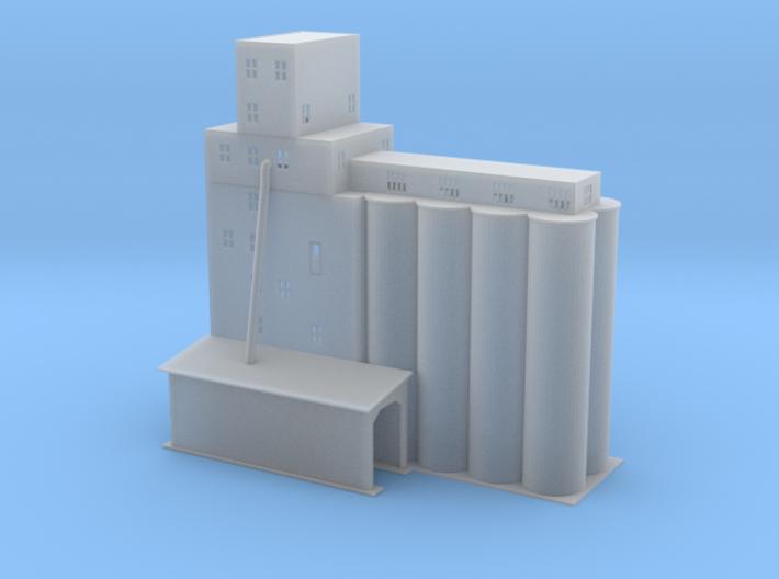 Grain Elevator complex 1 Z scale 3d printed Grain ELevator Z scale