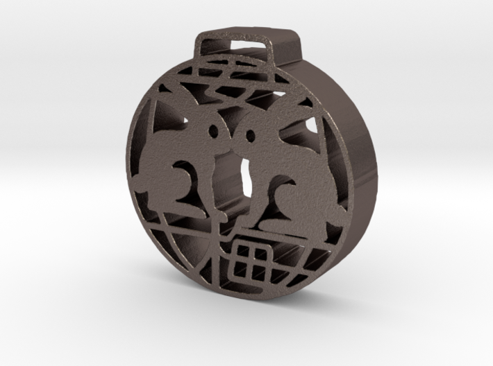 Anmei's Rabbits Pendant 3d printed