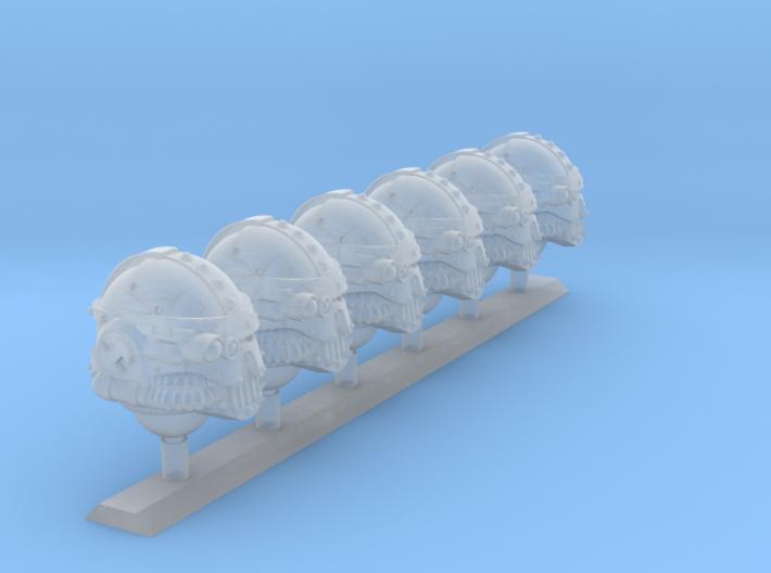 6x Base - Iron Skull Optics Helmets 3d printed