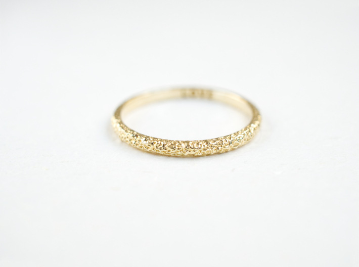 Petite Forged Ring 1.3mm 3d printed 1.8mm option, engravable