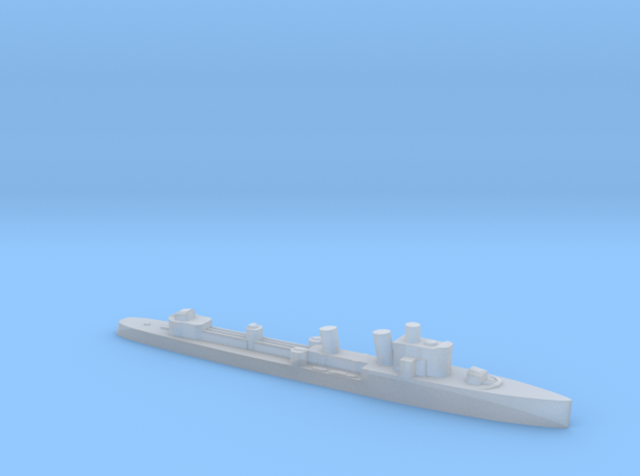 Italian Turbine destroyer WW2 1:3000 3d printed