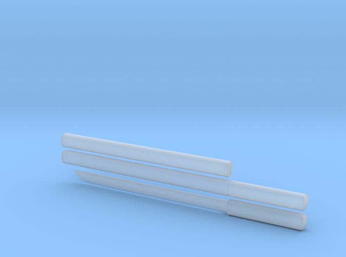 Wakizashi - 1:12 scale - Straight blade - Plain 3d printed