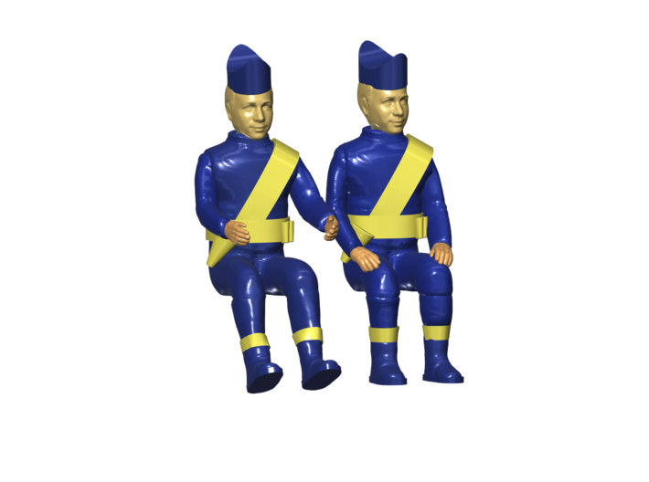 THUNDERBIRDS 1/144 PILOTS 3d printed Render of the current 3D file.