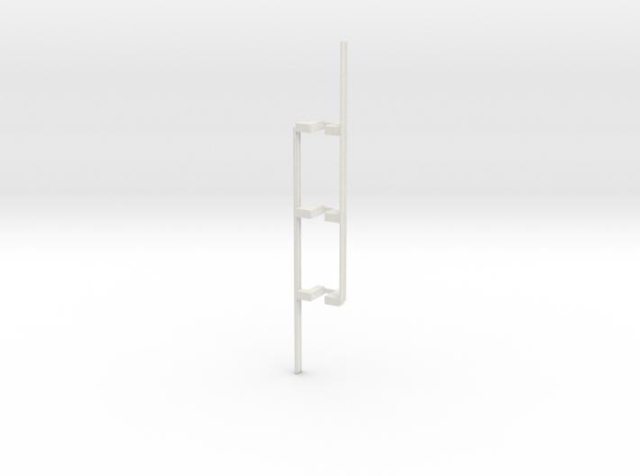 Guardrail - 3-Bay Left 3d printed Part # GR-003
