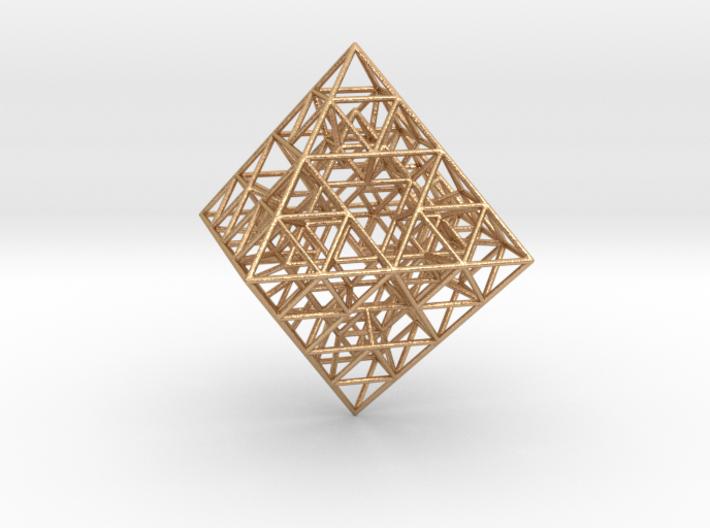 Sierpinski Octahedral Prism 5 cm. 3d printed