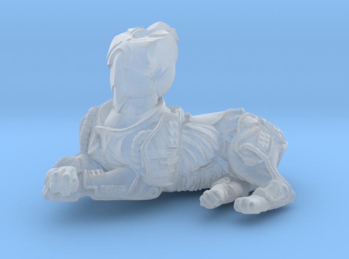 Anthropomorphic male heavy armor cat taur 2 (HSD m 3d printed