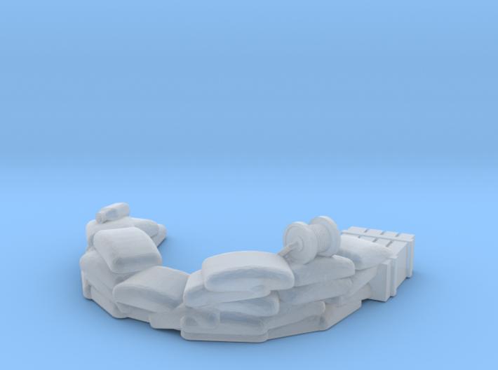 Sandbag Emplacement 1/220 3d printed
