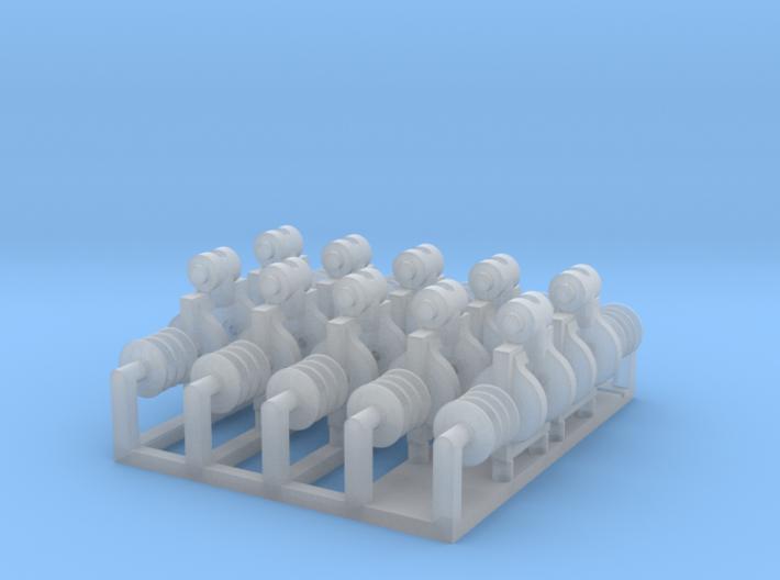 Triple cargo block set 1/48 3d printed