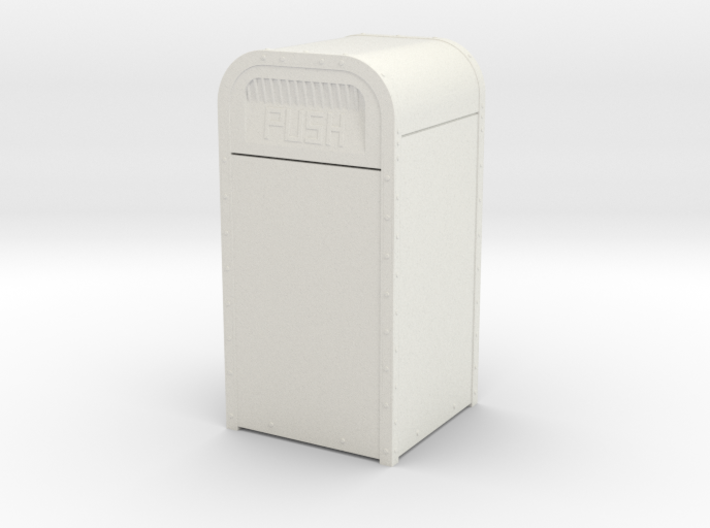 """1:16 (3/4""""=1') Scale Amusement Park Garbage Can 3d printed"""