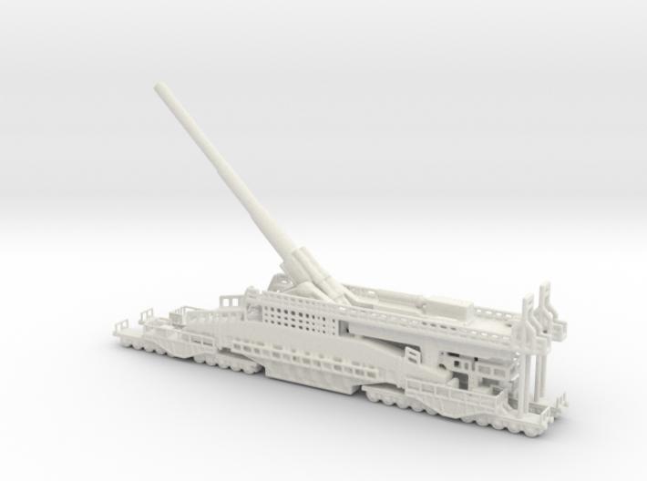 Schwerer Gustav railway artillery 80cm 1/160 3d printed