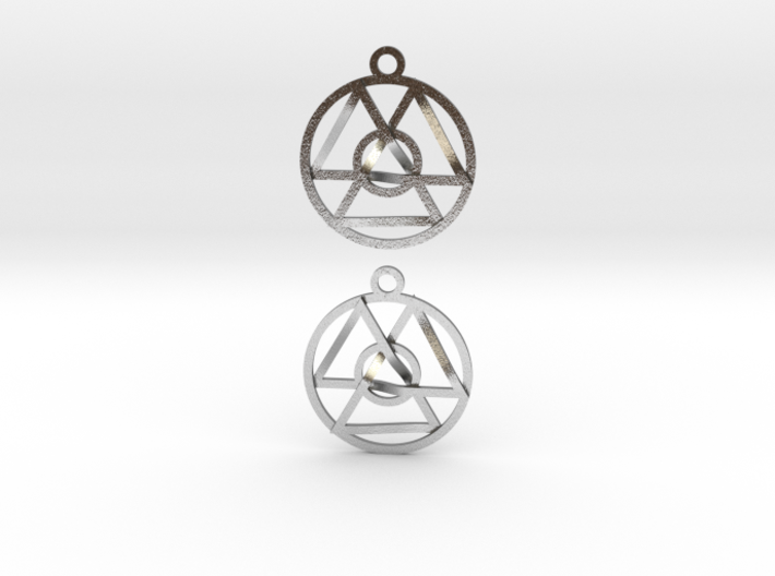 Oneness Earrings 3d printed