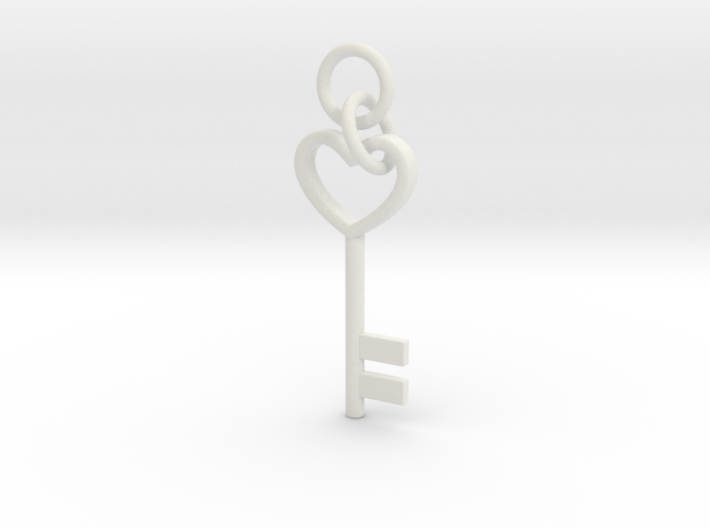 Cute Cosplay Charm - Heart Key (with links) 3d printed