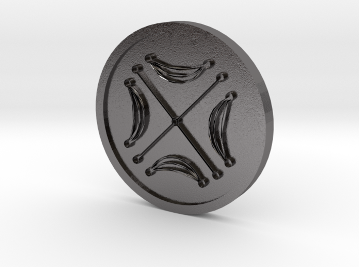 Seal of the Moon Coin 3d printed
