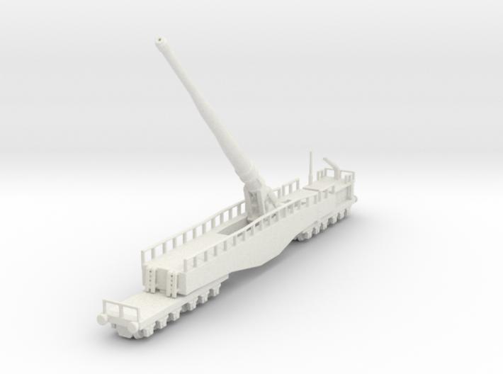 Krupp K5 28cm Leopold railway artillery 1/160 3d printed