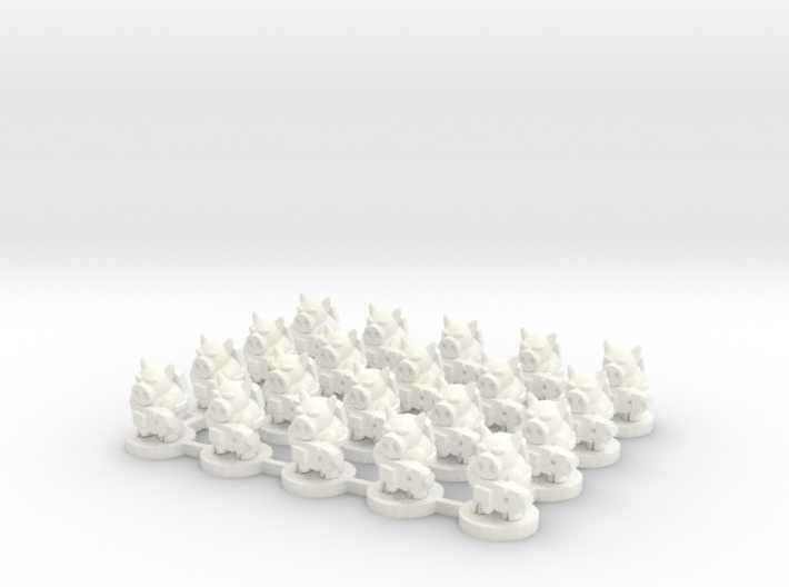 6mm - Pigmen with flamer x 20 3d printed