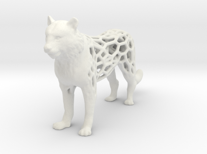 tiger-voronoi 3d printed