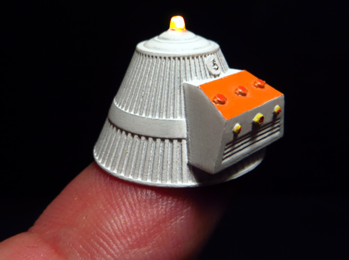SPACE 2999 1/93 SILO CAPS 3d printed Painted part lighted with an inner led -not included-.