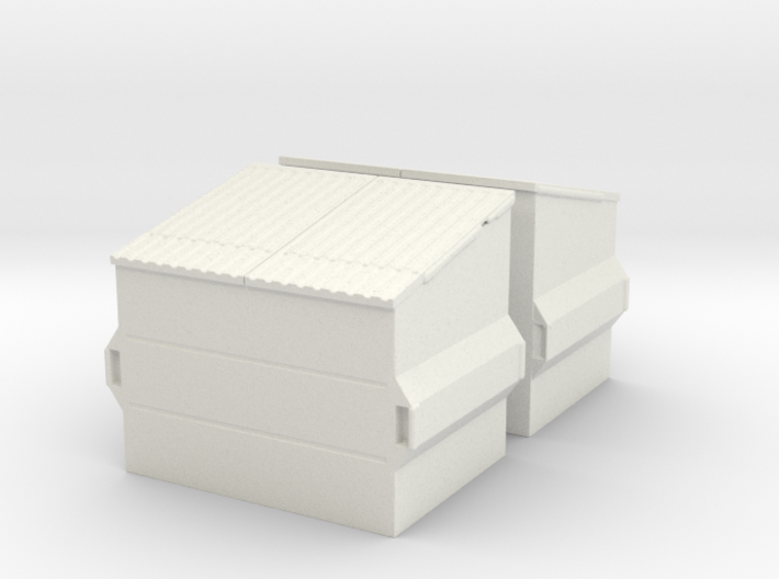 Dumpster (2 pieces) 1/48 3d printed