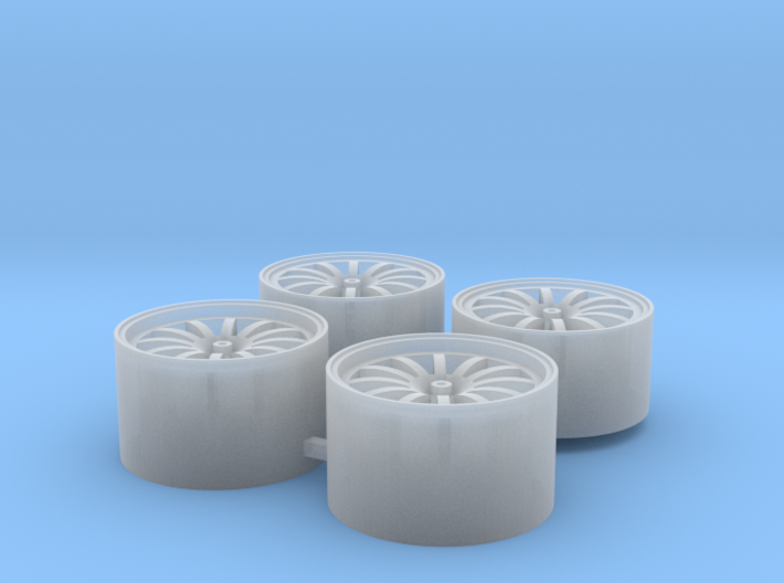 4x 12 arm wheel rim, e. g. for 911 GT3 Cup 3d printed