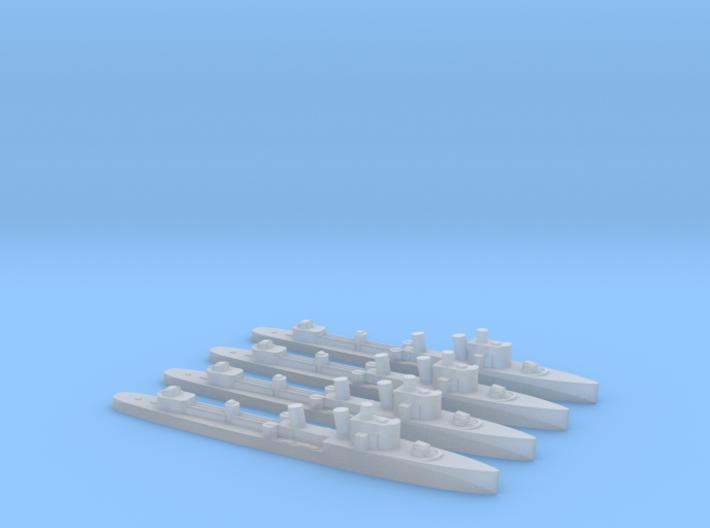 4pk Turbine class WW2 1:3000 destroyer 3d printed