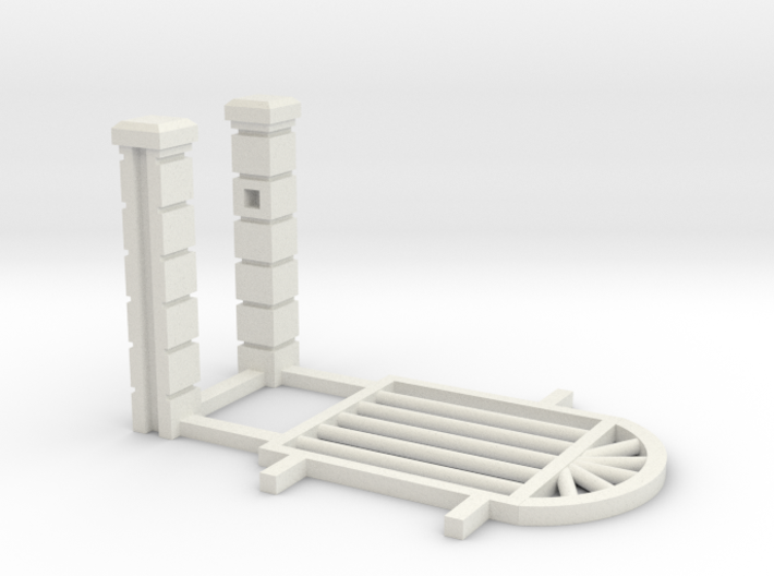 Block Wall - Rod Iron Man Gate-2 3d printed Part # BWJ-029