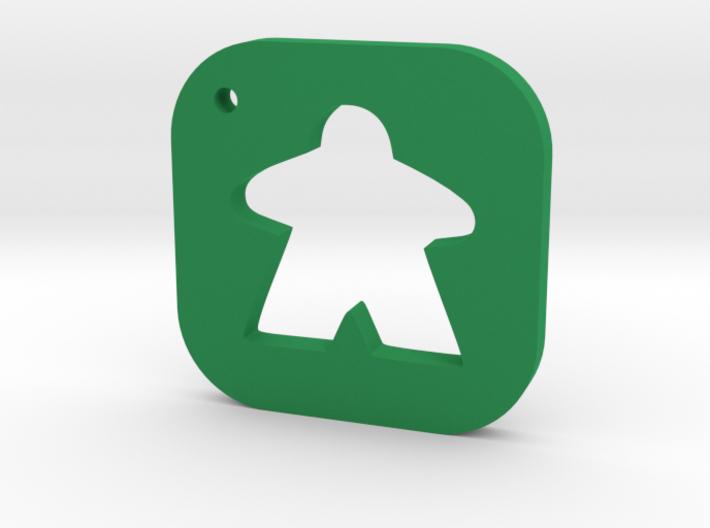 Meeple Keychain Silhouette, Board Game Keyring 3d printed