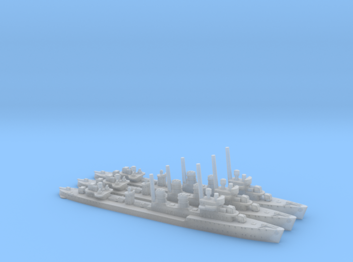 1/2400th class 3 x Beograd class destroyers 3d printed