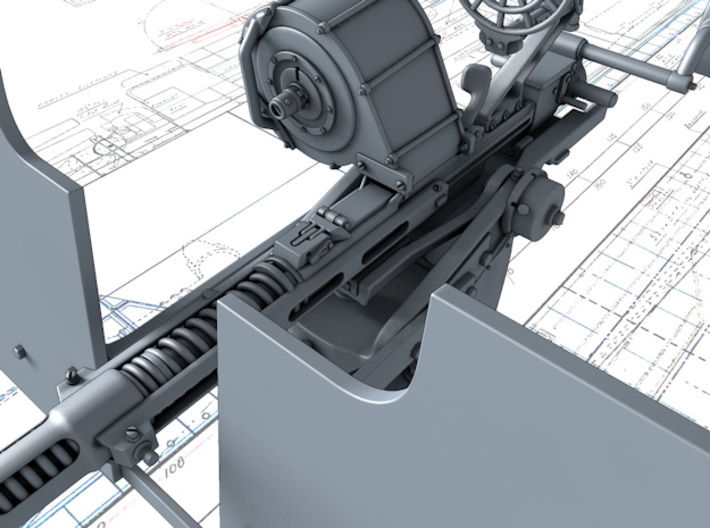 1/25 20mm Oerlikon MKIIA x1 Non-Depressed 3d printed 3d render showing product detail